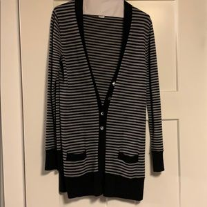 Black and grey stripped J.Cree button cardigan